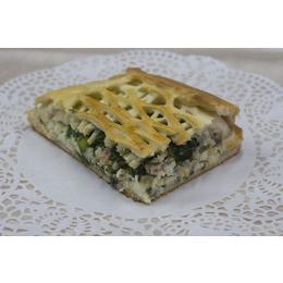 Скандинавский пирог с копченой горбушей
