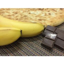 Пирог с бананом и шоколадом