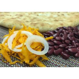 Осетинский пирог с фасолью и морковью (постный)