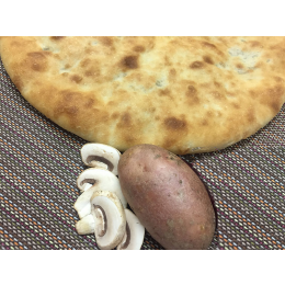 Осетинский пирог с грибами и картофелем (постный)